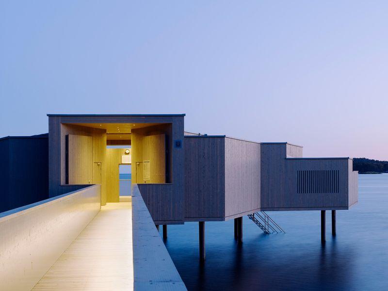 Stilted Seaside Bathhouses