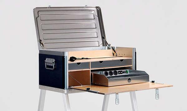 Self Powering Travel Desks Kanz Outdoors Field Power Desk