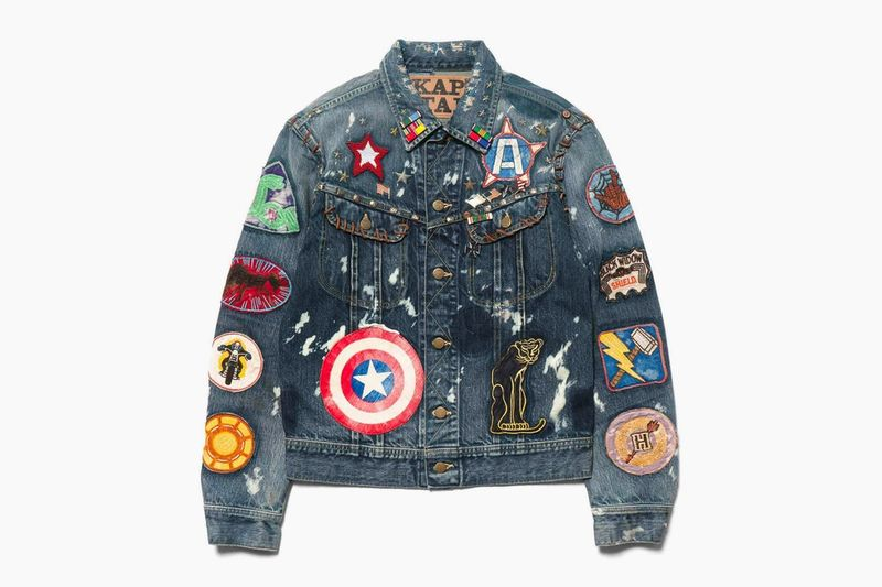 Superhero Label Patched Jackets