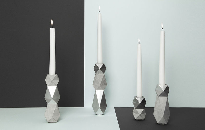 Origami-Inspired Candle Holders