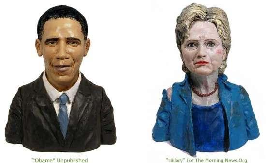 Plasticine Celebrity Portraits