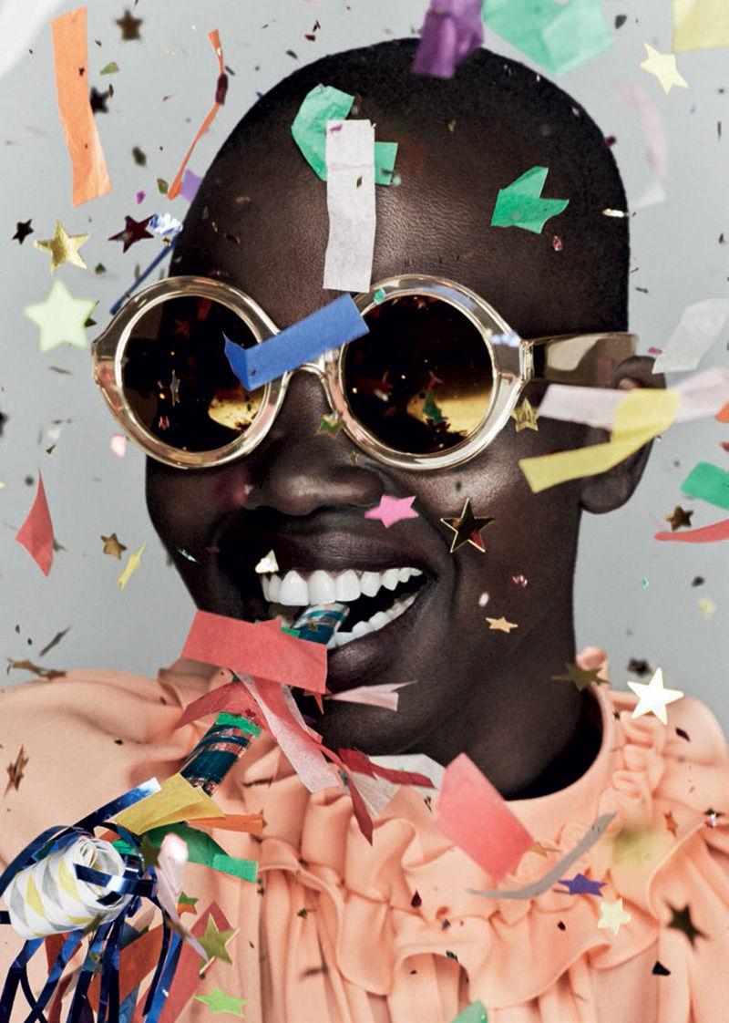 Confetti-Clad Eyewear Ads