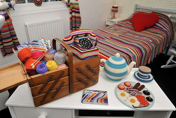 Colorfully Crocheted Interiors