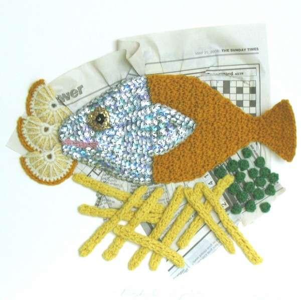Crocheted Food Sculptures