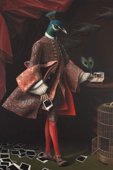 Personified Avian Paintings