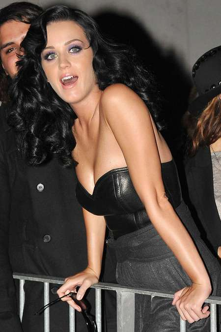 Cleavage-Baring Corsets: The Rockin' Katy Perry Leather ...