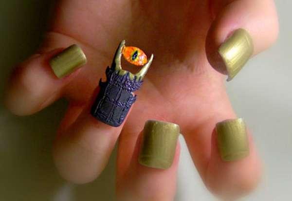 Protruding Manicure Art