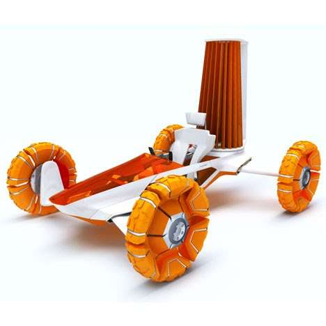 Bright Wind-Powered Wheels