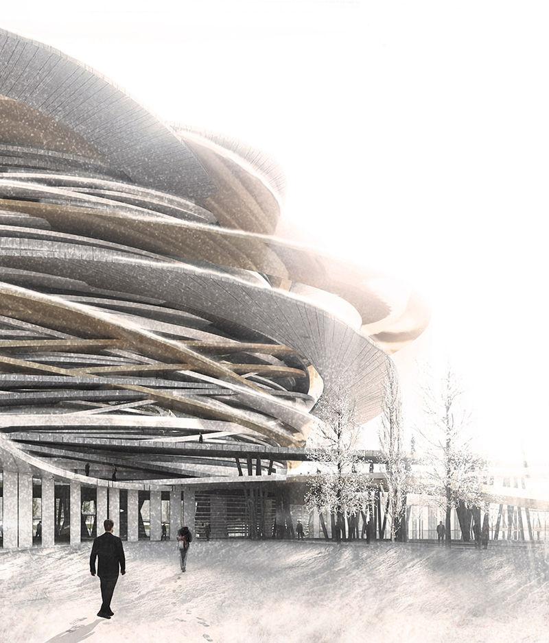 Spherical Futuristic Monuments