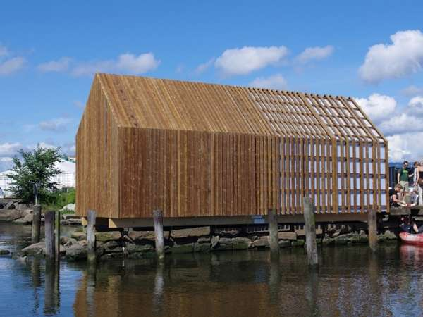 Sustainable Seaside Shacks Kebony Boat House