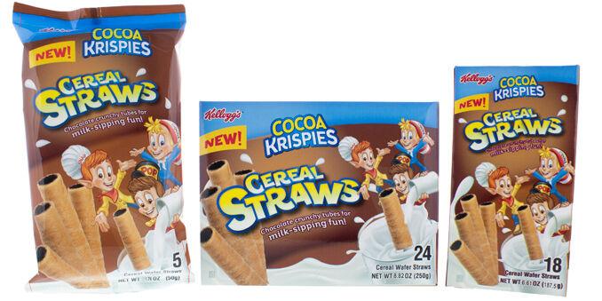 Cereal-Made Milk Straws