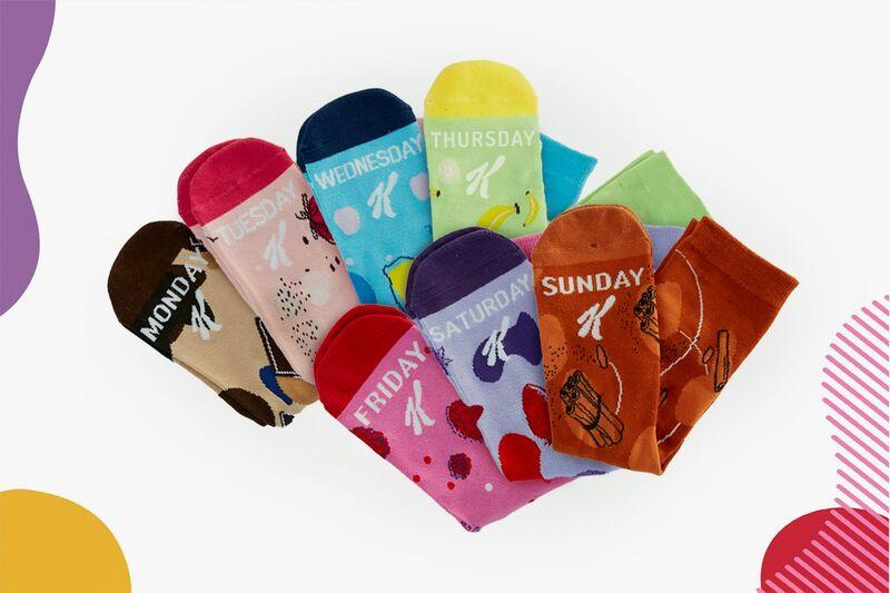 Weekday-Printed Cereal Socks