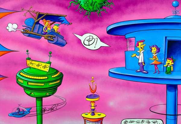 Nostalgic Utopian Art