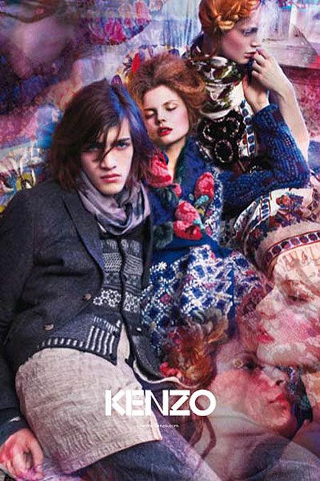 fccf13de80e Russian Bohemian Campaigns: Kenzo Fall 2009 Ads Follow Their S/S '09 ...