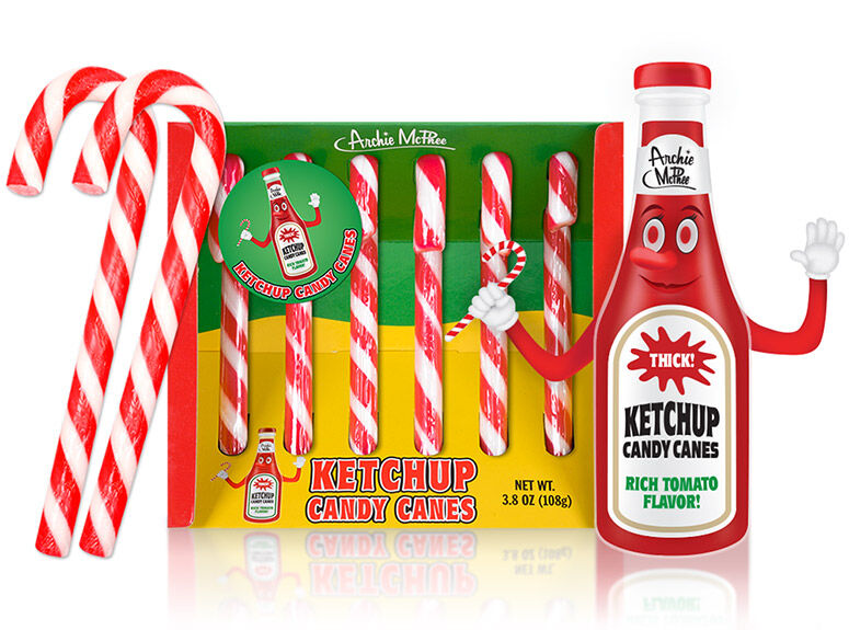 Condiment-Flavored Candy Canes