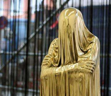 Veiled Metallic Sculptures