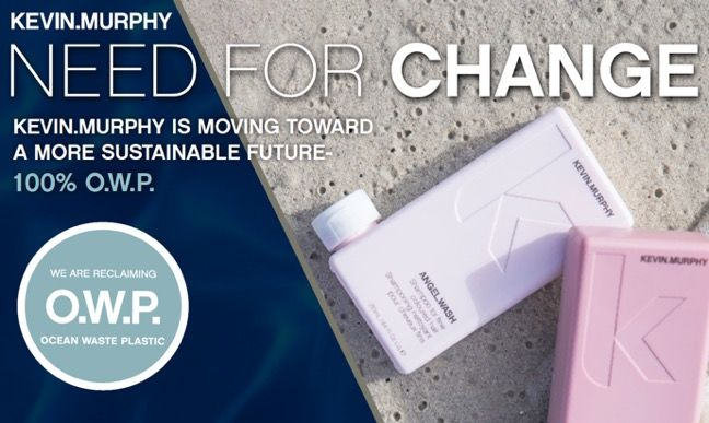 Upcycled Hair Product Packaging - KEVIN.MURPHY's Ocean Waste Plastic Bottles are Sustainably Made (TrendHunter.com)