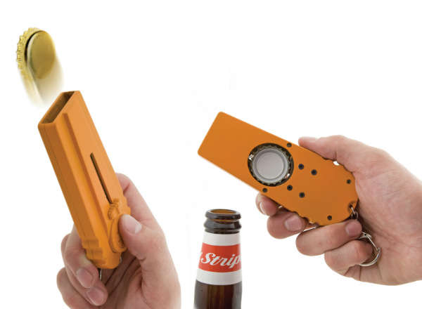 Cap-Launching Bottle Openers