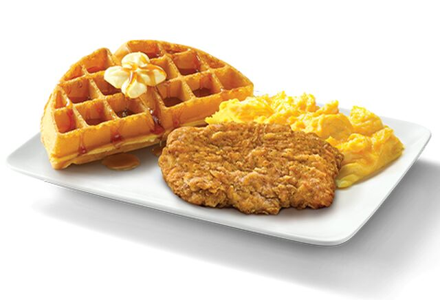 Waffle-Paired Chicken Breakfast Meals