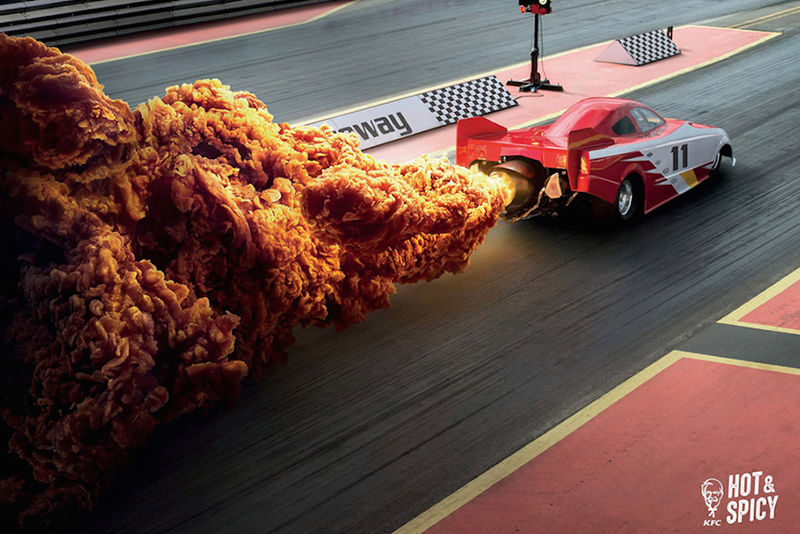 Explosive Spicy Chicken Ads