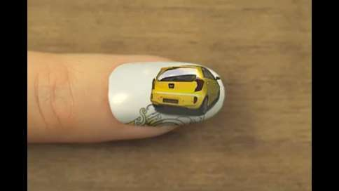 Animated Automobile Nail Art