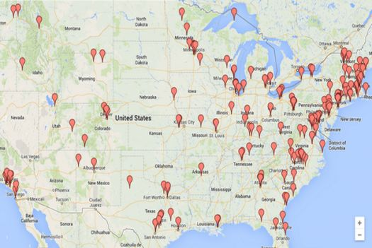 Restaurant-Focused Kickstarter Maps