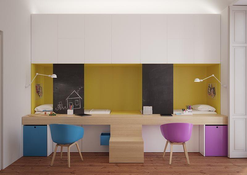 Bed-Equipped Desk Bedroom Designs