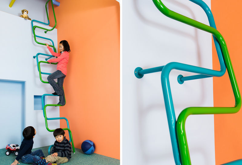 Playful Ladder Lofts