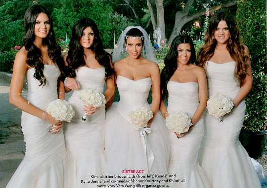 Whiteout Celeb Weddings : Kim Kardashian Wedding Photos