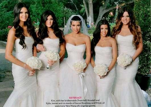 Whiteout Celeb Weddings Kim Kardashian Wedding Photos