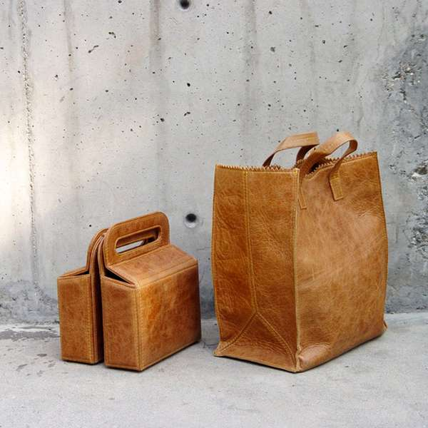 Paper Leather Totes : kimkim bags