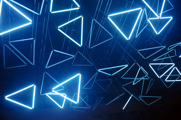 Suspended Kinetic Light Installations