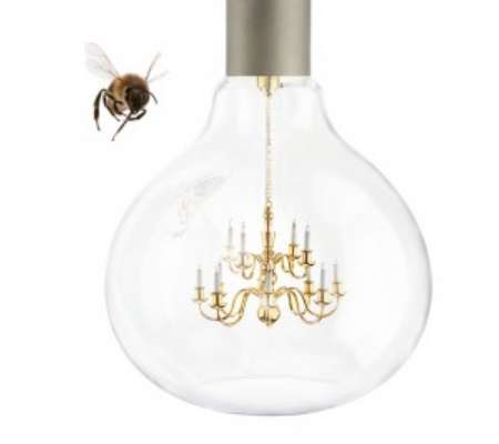 Chandelier-Embedded Bulbs