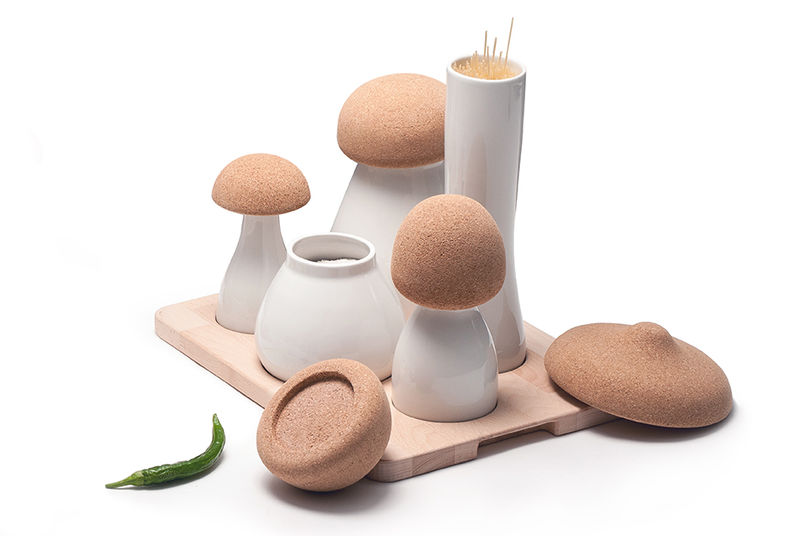 Mushroom-Mimicking Kitchen Containers