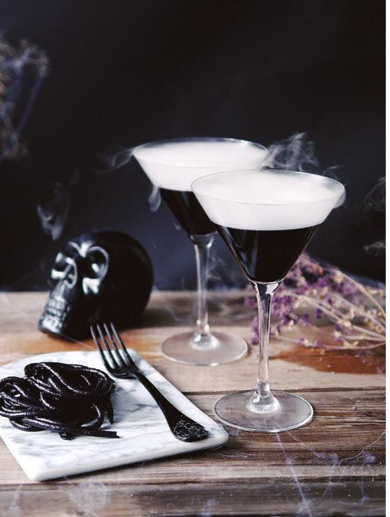 Spooky Smoking Cocktails
