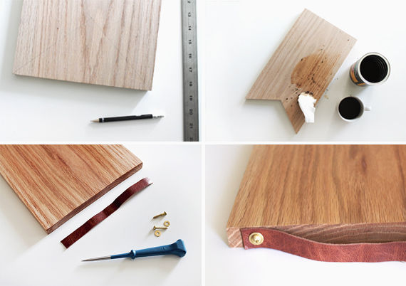 Leather-Handled Cutting Boards