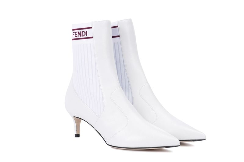 All-White Designer Hybrid Boots