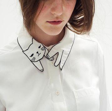 Kitty Collar Blouses
