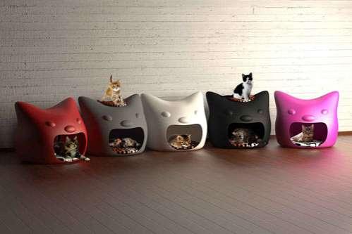 Feline Silhouette Beds
