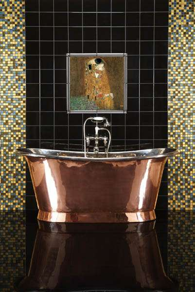 24k Gold Fine Art Klimt Bathroom Tile