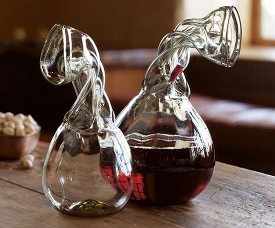 Crumpled carafes knight 39 s decanters let you drink without - Egouttoir carafe a decanter ...