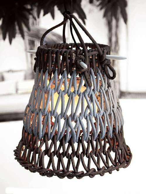 kenneth cobonpue lighting contemporary woven lantern covers covers these knit lamp shades by kenneth cobonpue are