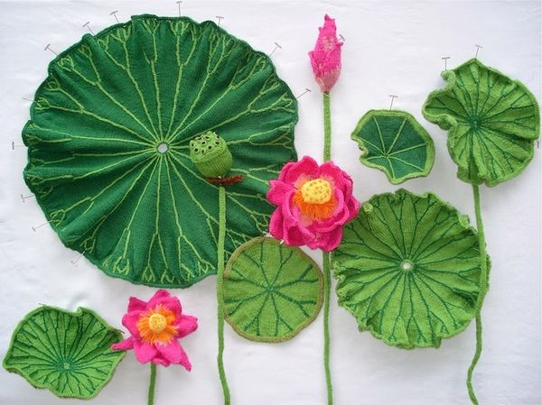Scientifically Accurate Botanical Yarn Art