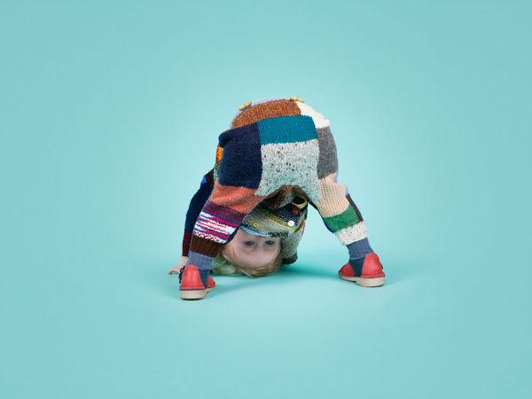 Knit Patchwork Kidswear