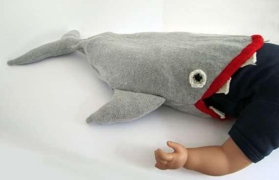 Predator Toddler Nap Packs : Knitted Baby Shark Sleeping Bag