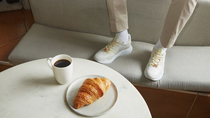 Croissant-Inspired Sneakers