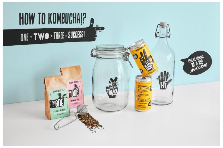 Vibrant Ready-to-Brew Kombucha Kits