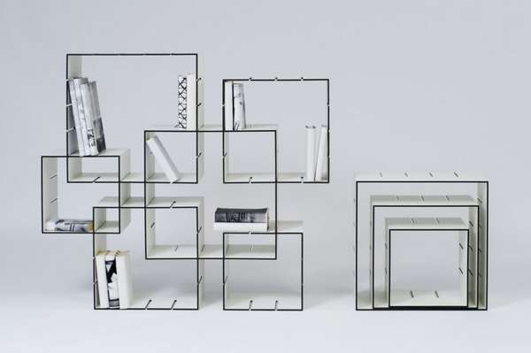 Interlocked Cube Shelves