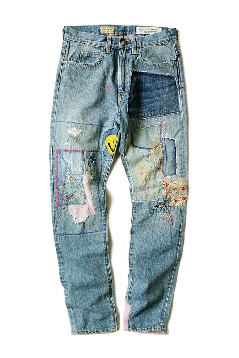 Reworked Artisinal Patchwork Denim