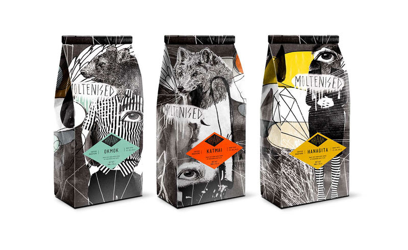 Collaged Coffee Packaging